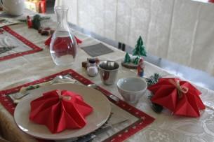Accessoires de la table réalisés par les Sœurs !